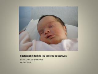 Sustentabilidad de los centros educativos