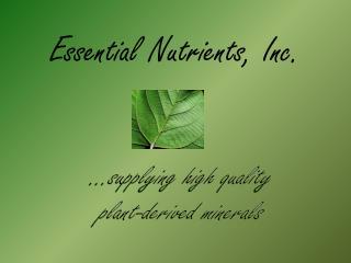 Essential Nutrients, Inc.