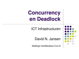 Concurrency en Deadlock