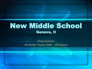 New Middle School Geneva, Il