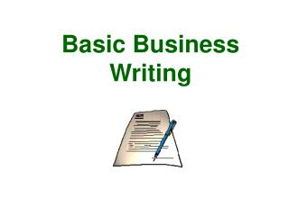 Basic Business Writing