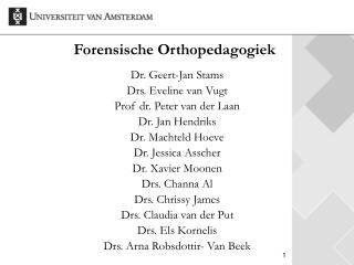 Forensische Orthopedagogiek