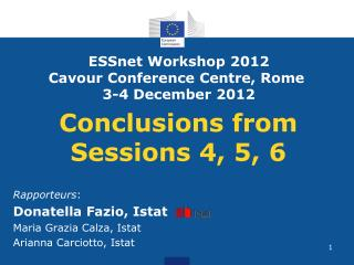 Conclusions from Sessions 4, 5, 6