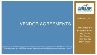 Vendor Agreements