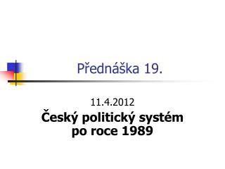 Přednáška 19.