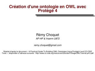 Création d'une ontologie en OWL avec Protégé 4