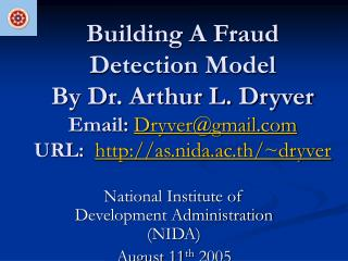 National Institute of Development Administration (NIDA) August 11 th  2005