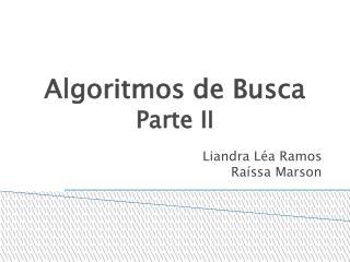 Algoritmos de Busca   Parte II