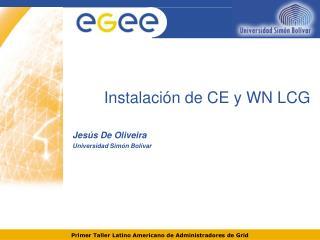 Instalación de CE y WN LCG