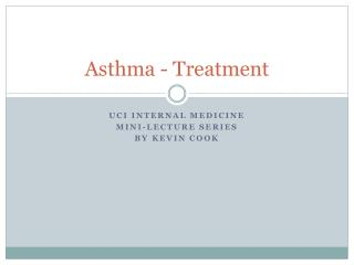 Asthma - Treatment