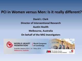 PCI in Women versus Men: Is it really different?