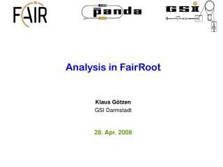 Analysis in FairRoot