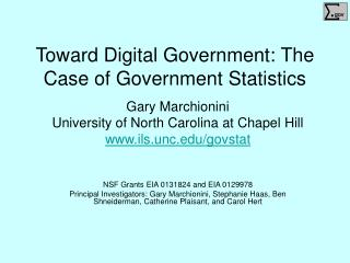 Toward Digital Government: The Case of Government Statistics