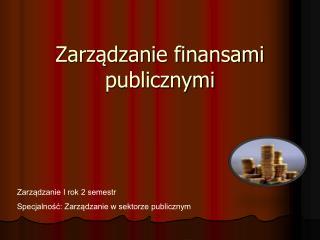 Zarządzanie finansami publicznymi