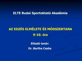ELTE Budai Sportoktató Akadémia