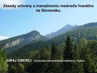 Zásady ochrany a manažmentu medveďa hnedého na Slovensku.