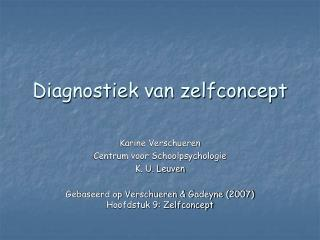 Diagnostiek van zelfconcept