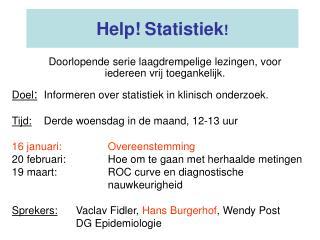 Help! Statistiek !