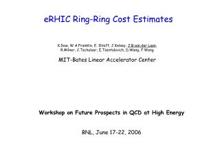 eRHIC Ring-Ring Cost Estimates