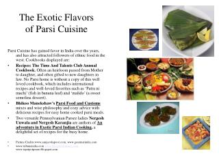 The Exotic Flavors of Parsi Cuisine