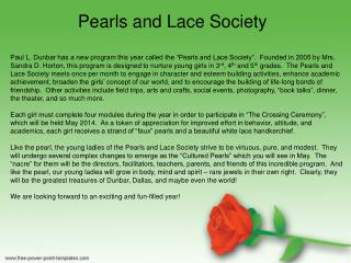 Pearls and Lace Society