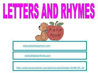 LETTERS AND RHYMES