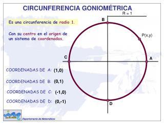 COORDENADAS DE  A: