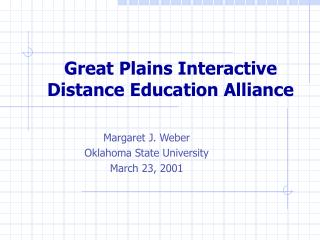 Great Plains Interactive Distance Education Alliance