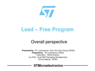 Lead   Free Program