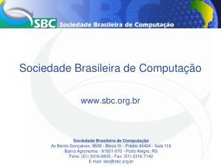 Sociedade Brasileira de Computação