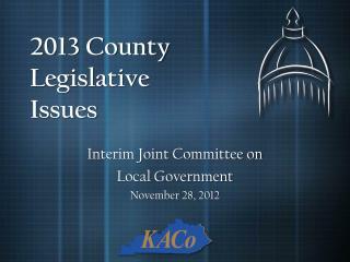 2013 County Legislative Issues