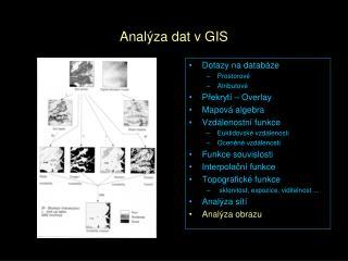 Analýza dat v GIS