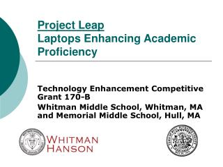 Project Leap Laptops Enhancing Academic Proficiency