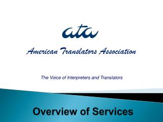 The Voice of Interpreters and Translators