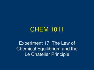 CHEM 1011