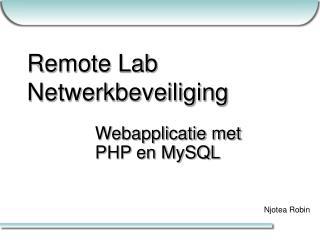 Remote Lab Netwerkbeveiliging