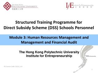 Module 3: Human Resources Management and Management and Financial Audit