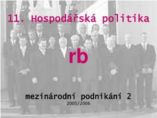 11. Hospodářská politika