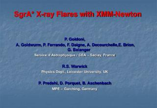 SgrA* X-ray Flares with XMM-Newton
