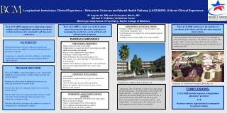 CONCLUSIONS: LACE-MHP provides exposure to longitudinal ambulatory psychiatry 	AND