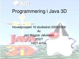 Programmering i Java 3D