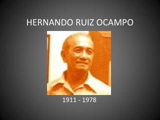 HERNANDO RUIZ OCAMPO