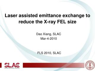 Laser assisted emittance exchange to reduce the X-ray FEL size