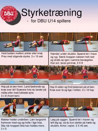 Styrketræning for DBU U14 spillere