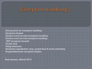 Exception  handling 2