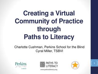 Creating a Virtual  Community  of Practice through  Paths  to Literacy