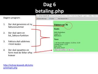 Dag 6 betaling.php