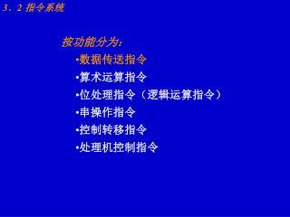 3 .2 指令系统