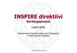 INSPIRE direktiivi Verkkopalvelut