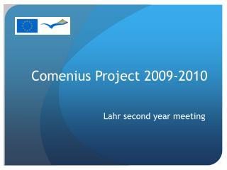 Comenius Project 2009-2010